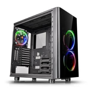 GABINETE TT VIEW 31 RGB BLACK WIN TEMPERED GLASS X 2 CA-1H8-00M1WN-01