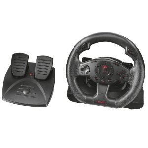 VOLANTE GAMER TRUST GXT 580 FEEDBACK RACING WHEEL VIBRATION