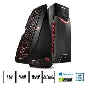 Computador Acer Gamer Torre Aspire Gx-783-br13 Core I7 7700 16gb(2x8gb) 1tb(8gb Ssd) Geforce GTX 1060 6gb Windows 10