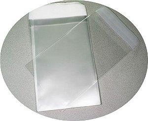 Embalagem Transparente c/ Fechamento Adesivo 5x7 - 100 unidades