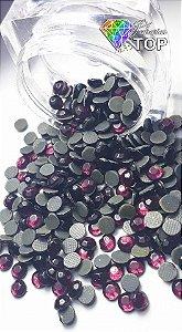 Strass cor vinho 4mm - 50 unidades