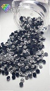 Margarida cor prata 3mm - Aprox. 150 unidades