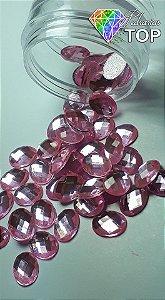 Chaton oval rosa 6x8 - 30 unidades