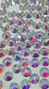 Pedra de luxo rivoli furta cor 4mm - 30 unidades