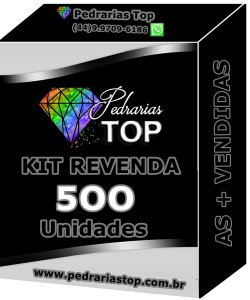 Kit revenda c/ 500 pacotes de pedrarias + 50 saquinhos de brinde