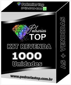Kit revenda c/ 1000 pacotes de pedrarias + 100 saquinhos de brinde