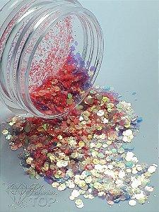 Glitter paête para decoração de unhas - Ref. 009 acombanha embalagem