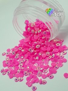 Margarida pink 3mm - 150 unidades