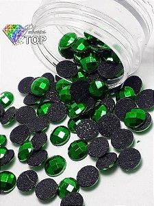 Chaton metalizado verde 6mm - 30 unidades
