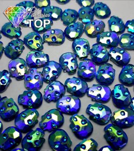 Chaton caveira azul - 30 unidades