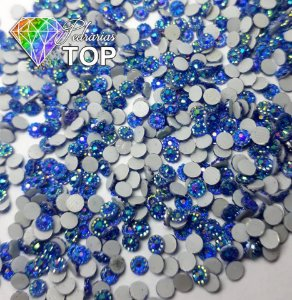 Margarida azul furta cor 3mm - 150 unidades