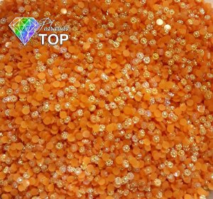 Margarida laranjada 3mm - 150 unidades