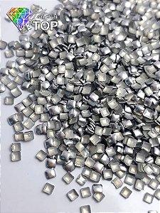 Chapinha quadrado prata 2mm - Aprox. 100 unidades