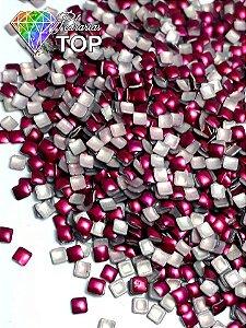 Chapinha quadrado pink 2mm - Aprox. 100 unidades
