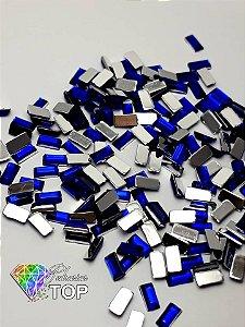 Retângulo azul bic 1,5 x  3 mm - Aprox. 100 unidades