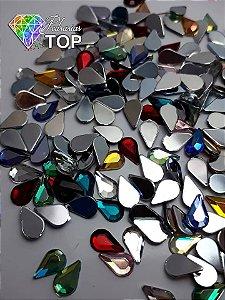 Gota espelhada mix de cores 4x6 - 50 unidades