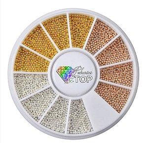 Disco caviar metal - Acompanha as cores rosê, prata e dourado