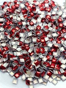 chapinha quadrada vermelha 3mm - 100 unidades