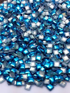 chapinha quadrada azul 3mm - 100 unidades