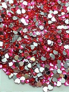 Micro coração rosa neon 2,5mm - 100 unidades