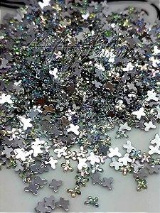 Micro borboleta furta cor 2,5mm  - 100 unidades