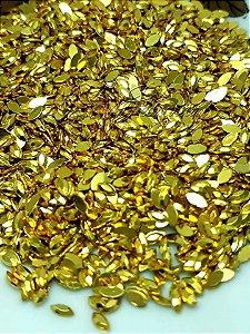 Micro navete dourado ouro 2x3 mm  - 100 unidades