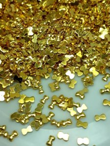 Micro lacinho dourado ouro 2,5mm  - 100 unidades