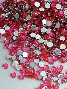 Pedra da lua rosa 3mm - 100 unidades