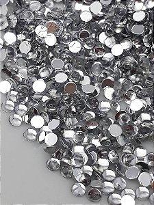 Pedra da lua incolor 3mm - 100 unidades
