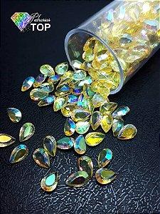 Pedra cristalina formato gota 3x5 c/10 un. - REF. 001
