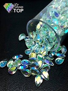 Pedra cristalina formato gota 4x6 c/10 un. - REF. 002