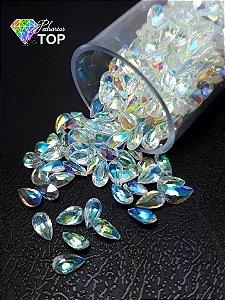 Pedra cristalina formato gota 3x5 c/10 un. - REF. 004