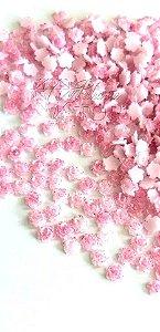 Rosa 3d glittler rosa 5mm - 30 unidades