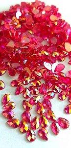 Pedra cristalina gota pink furta cor 4x6 C/ 30 unidades
