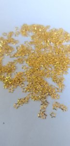 Metal para decoração unha estrela dourada