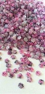 Rosa luxo 3d marmorizada pink/preta 4,5mm - 30 unidades