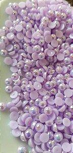 Pérola lilás ab 4mm c/ aprox 60 unidades