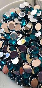 Chaton oval azul 6x8 c/ 30 unidades