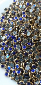 Olho de gato azul royal 4mm c/ 50 unidades