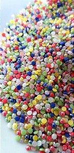 Meia pérola mix de cores 1.8mm c/ aprox. 350 unidades