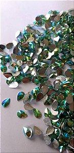 Gota rivoli verde ab 6x8  c/ 30 pcs