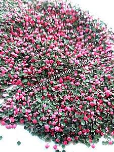 Chapinha redonda rosa neon 2mm c/ 500 unidades