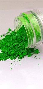 Pigmento ultra fino para unha verde neon fluorescente
