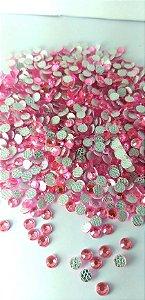 Chaton redondo rosa 4mm - 30 unidades