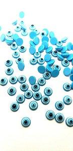 Pedra olho grego cor azul claro 4,5mm - 10 pcs