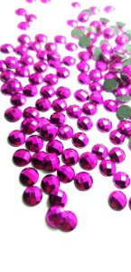 Chaton metalizado pink 6mm c/ 30 pcs