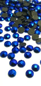 Chaton metalizado azul bic 6mm c/ 30 pcs
