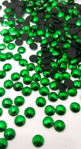 Chaton metalizado verde 6mm c/ 30 pcs