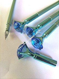 caneta para contorno diamante azul cor preta