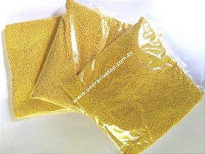 Caviar metal dourado 1mm - 500 gramas